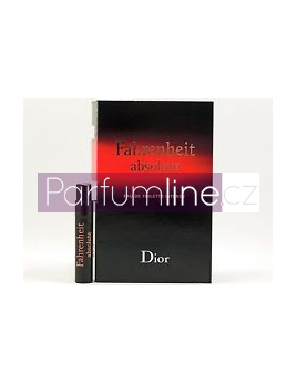 Christian Dior Fahrenheit Absolute intense, Vzorek vůně