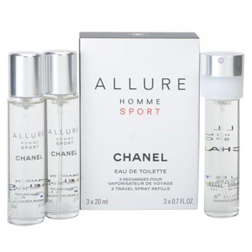 Chanel Allure Sport Cologne, Toaletna voda 3x20ml - Naplniteľný